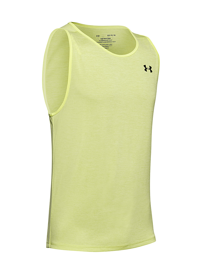 Under Armour: Le tank top Tech chiné Jaune vif-canari pour homme