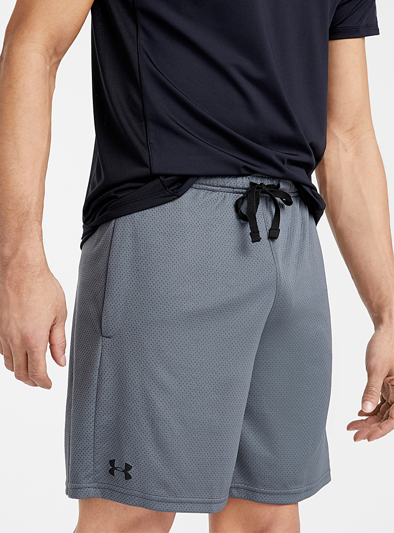 Under Armour Grey Micro-perforated fluid short for men