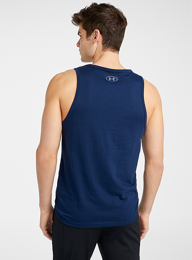 Under Armour Marine Blue Sportstyle logo tank for men