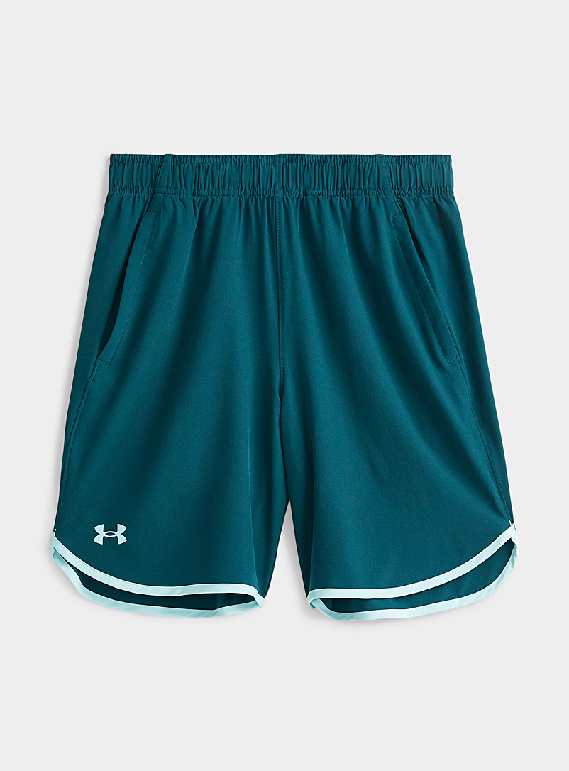 Under Armour Slate Blue HIIT stretch weave short for men