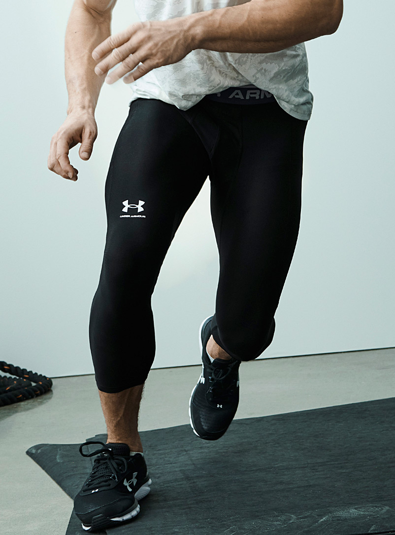Under Armour Black Accent-logo 7/8 compression legging for men