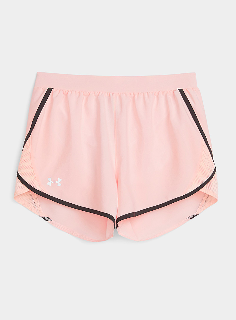 Under Armour Peach Fly-By light weave running short for women