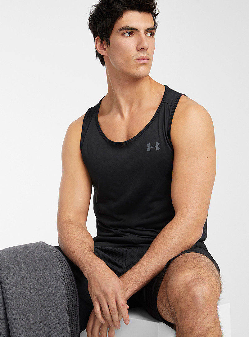 Under Armour Black Tech heathered loose tank for men