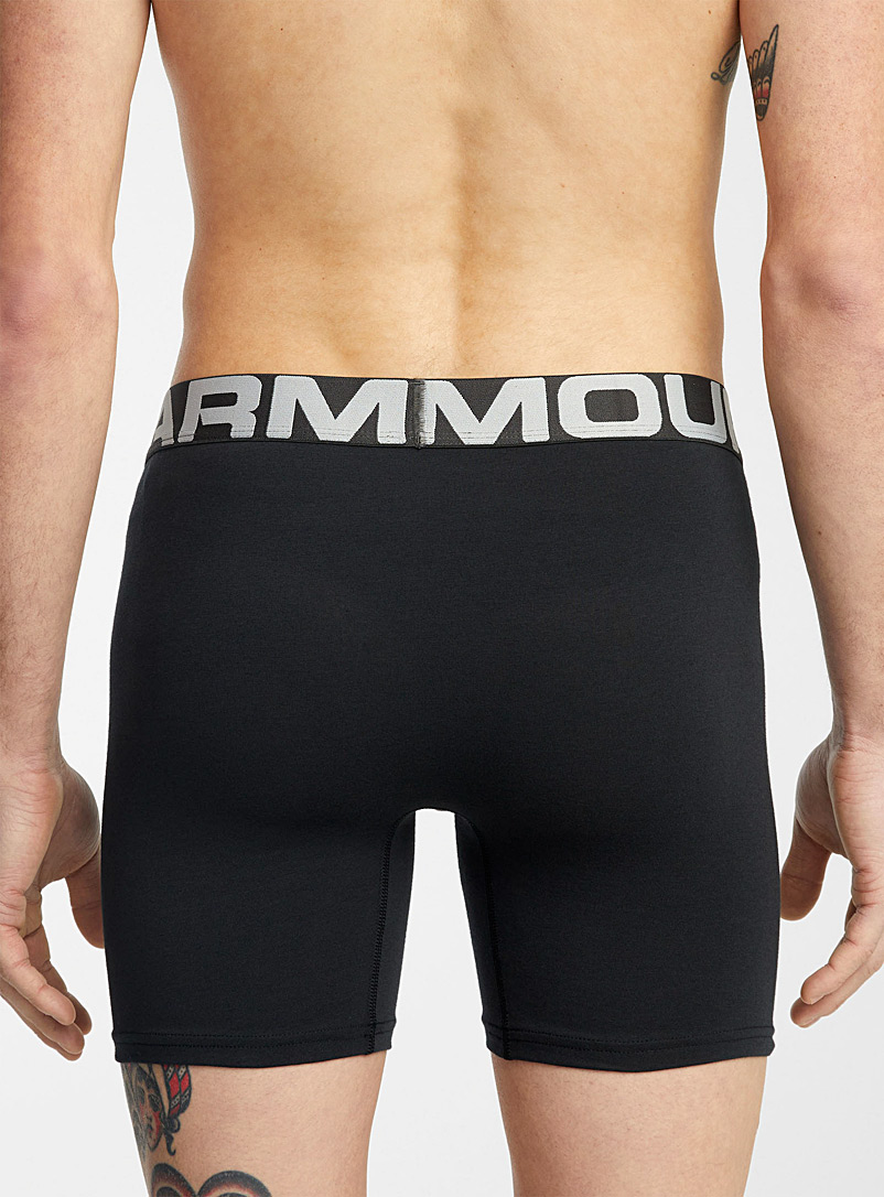 Under Armour Patterned Red Performance jersey boxer brief 3-pack for men