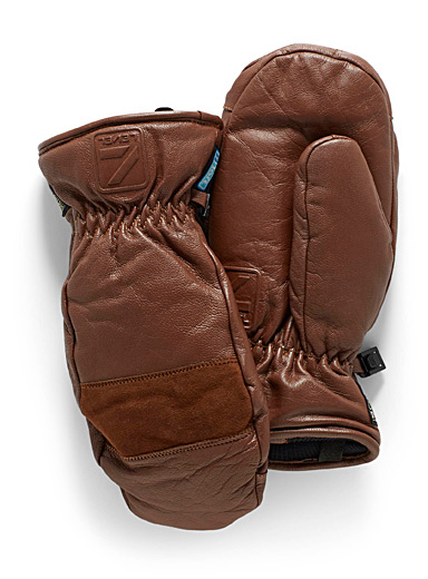 Empire leather mittens