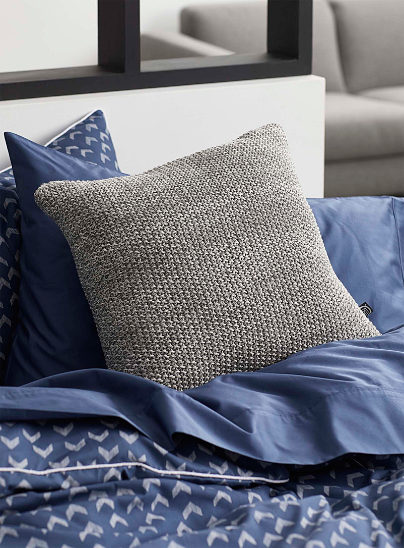 Simons Maison Grey Coloured knit cushion  45 x 45 cm