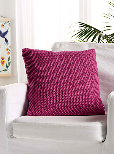 Coloured knit cushion  45 x 45 cm