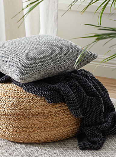 Marled knit cushion  45 x 45 cm