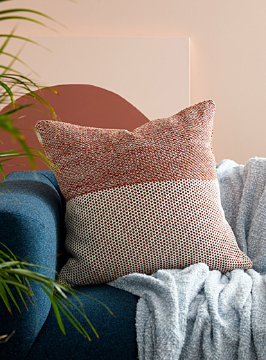 Garter stitch cushion 60 x 60 cm