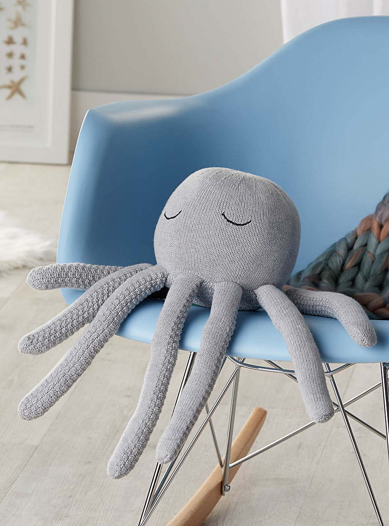 Cuddly octopus cushion - Decor - Light Grey