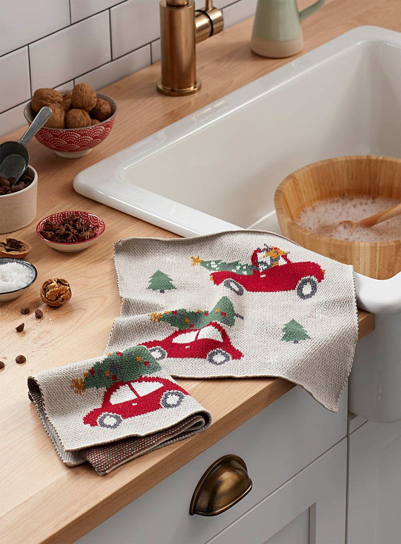 Simons Maison Assorted Bring home the tree knitted cleaning cloths  Set of 2