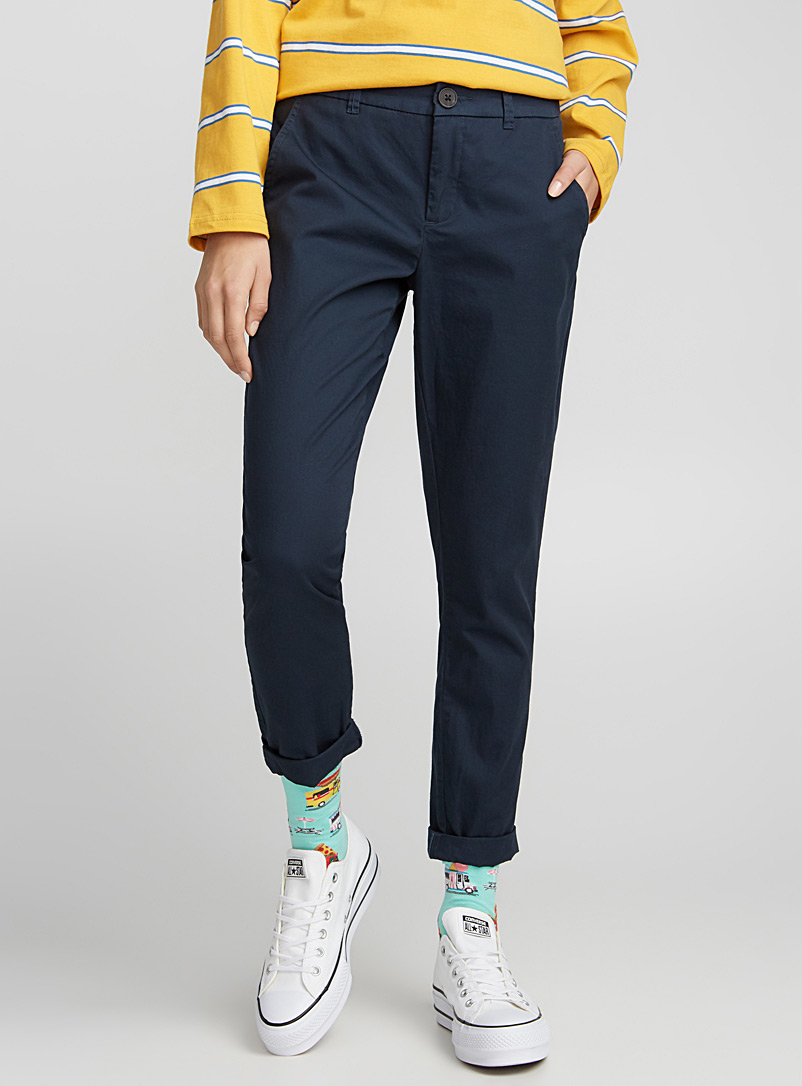 Pure cotton chinos - Joggers - Marine Blue