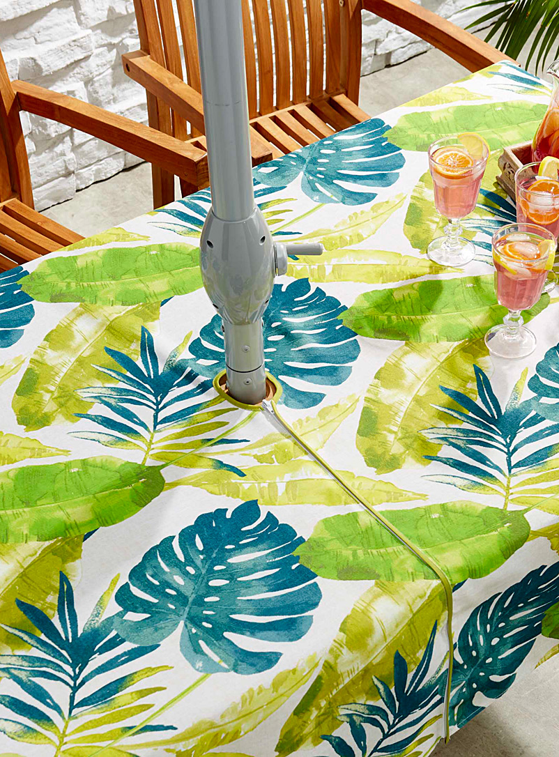 Simons Maison Assorted Tropical taste umbrella tablecloth