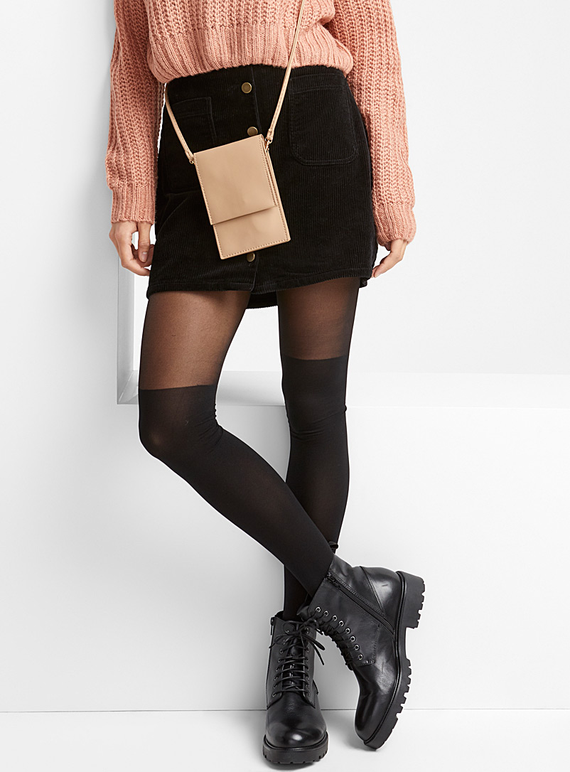Illusion thigh-high tights - Tights - Black