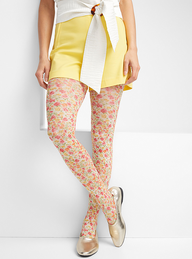 Simons Assorted  Wildflower tights for women