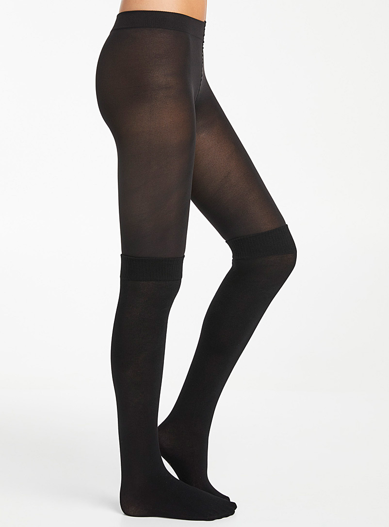 Built-in knee-high tights