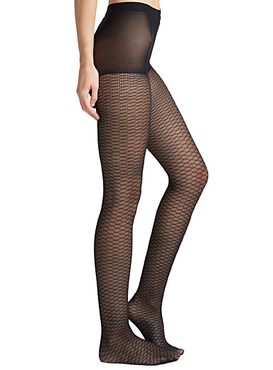 Illusion fishnet pantyhose