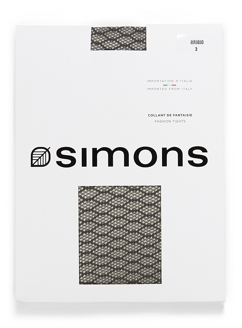 Simons Grigio Illusion fishnet pantyhose for women