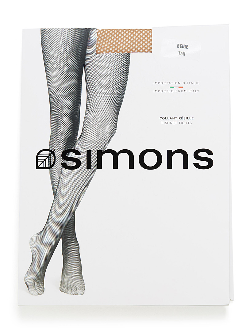 Simons Black Essential fishnet tights for women