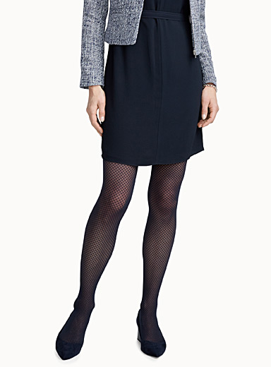 Faux-fishnet tights