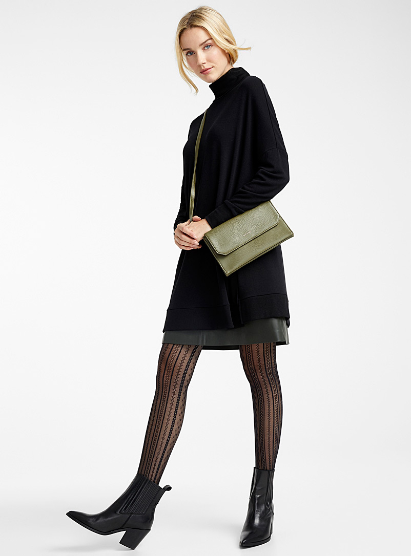 Fine mosaic pantyhose - Patterned Tights - Black