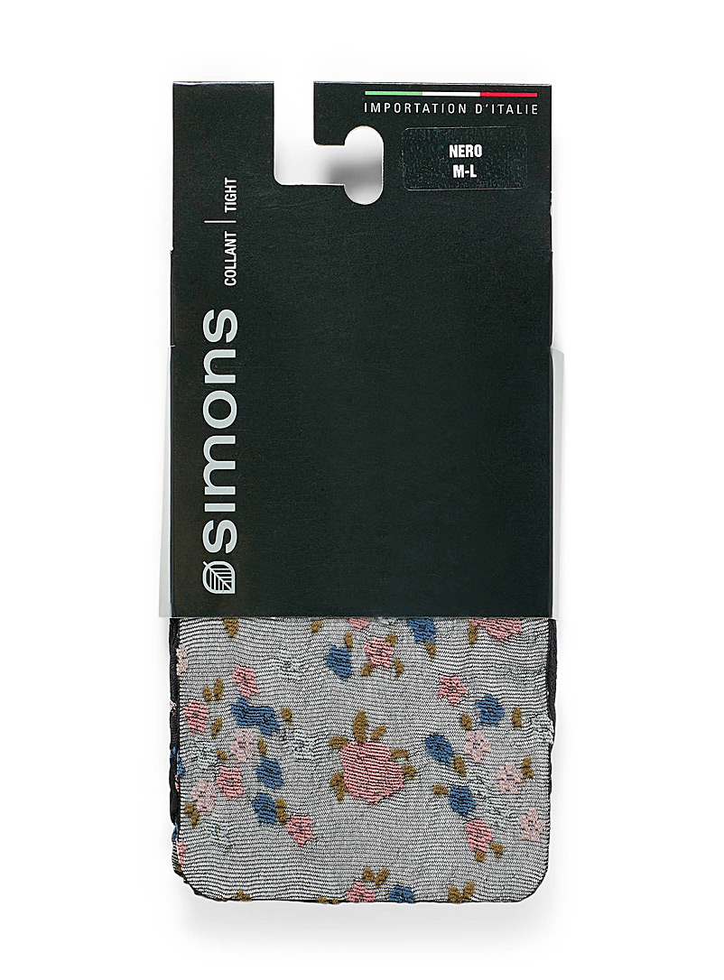 Simons Assorted Floral embroidery socks for women