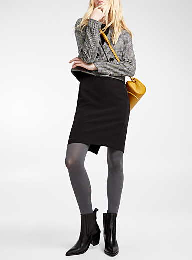Matte monochrome tights