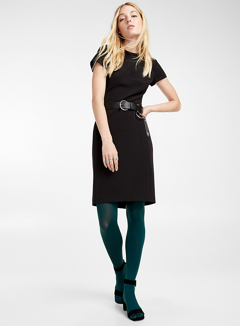 Matte monochrome tights - Tights - Mossy Green