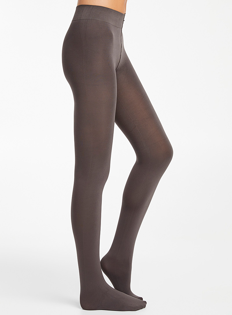Solid microfibre tights