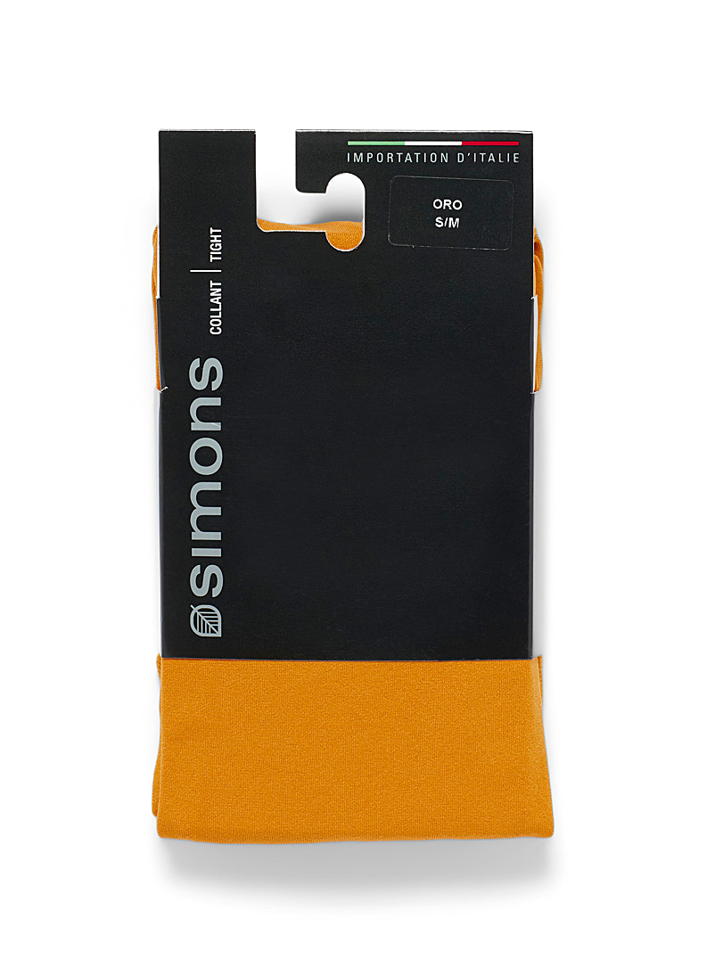 Simons Charcoal Solid microfibre tights for women