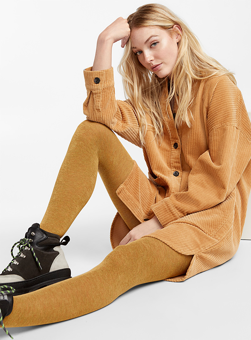 Touch of cashmere heathered tights - Tights - Golden Yellow