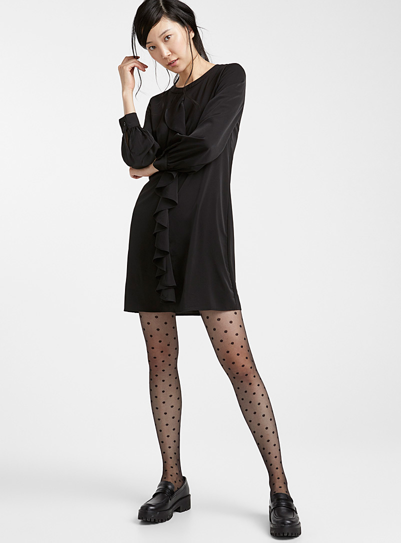 Polka dot pantyhose - Patterned Tights - Black