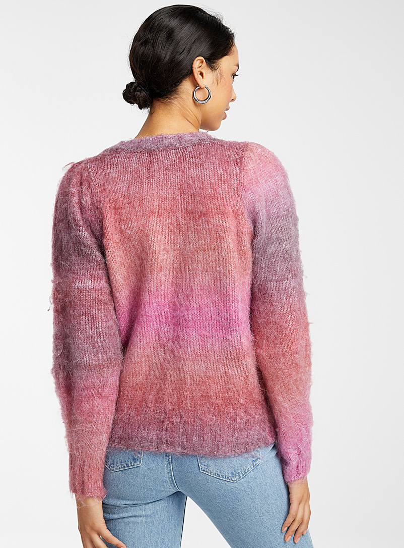 FRNCH Pink Twilight graded sweater for women