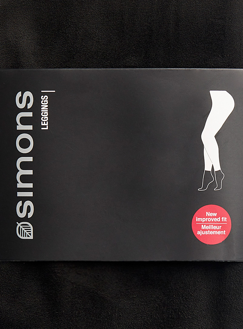 Simons Black Basic faux-suede legging for women