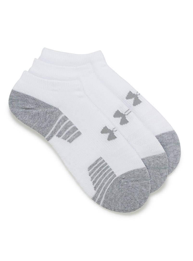 HeatGear no-show training ped socks  Set of 3 - Socks - White