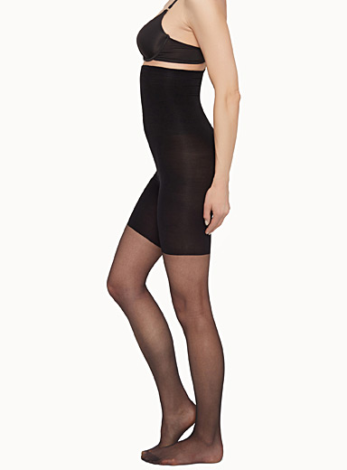 High-waist ultra-shaping pantyhose