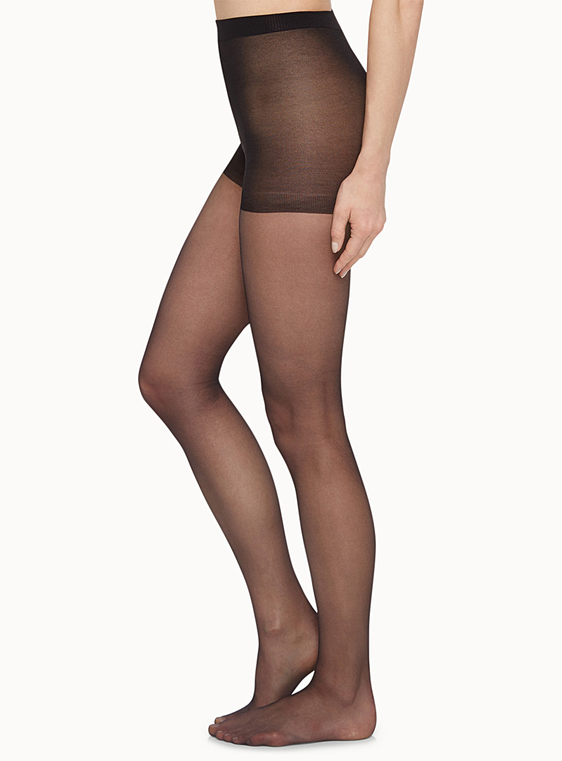 Illusion pantyhose - Control Top - Black