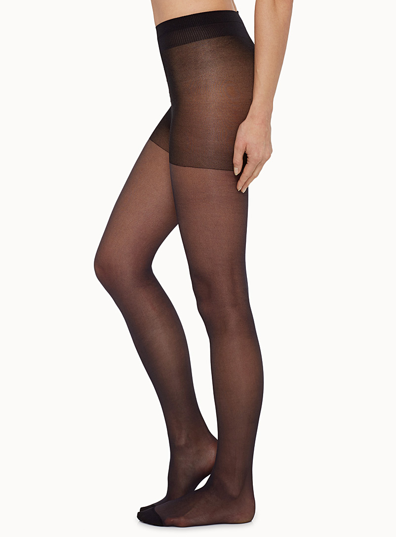 Sheer support pantyhose - Control Top - Black