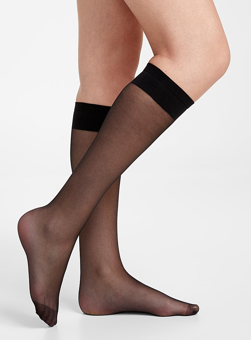 Executive knee-highs  Set of 2 - Knee-Highs - Black