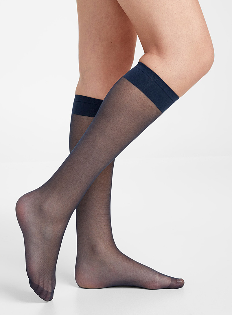Simons Black Executive knee-highs  Set of 2 for women