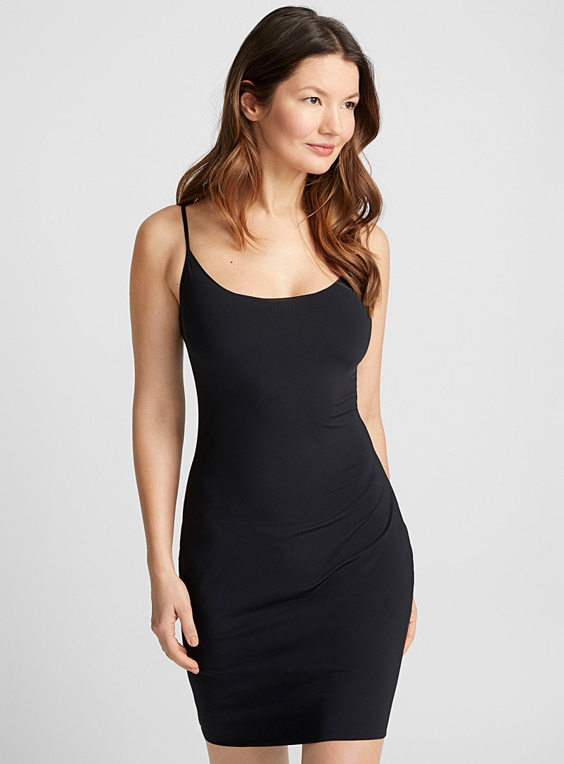 Miiyu Black Laser-cut control slip for women