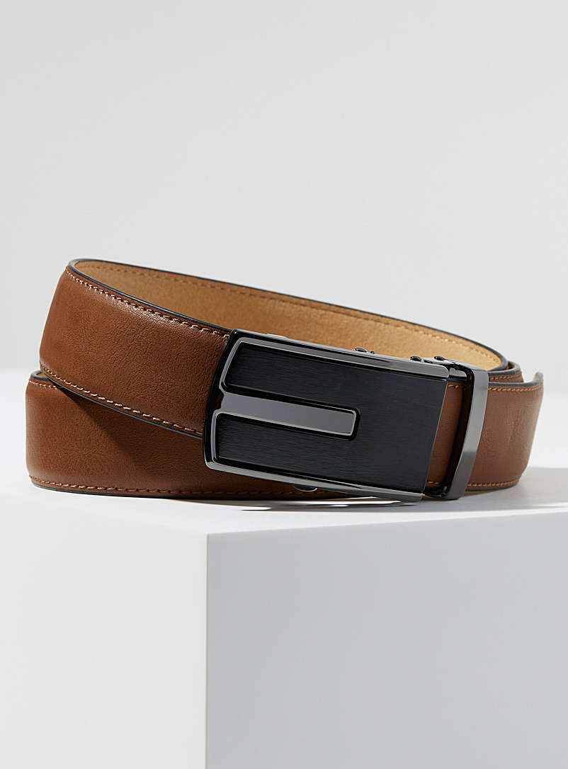 Two-metal automatic belt - Dressy - Fawn