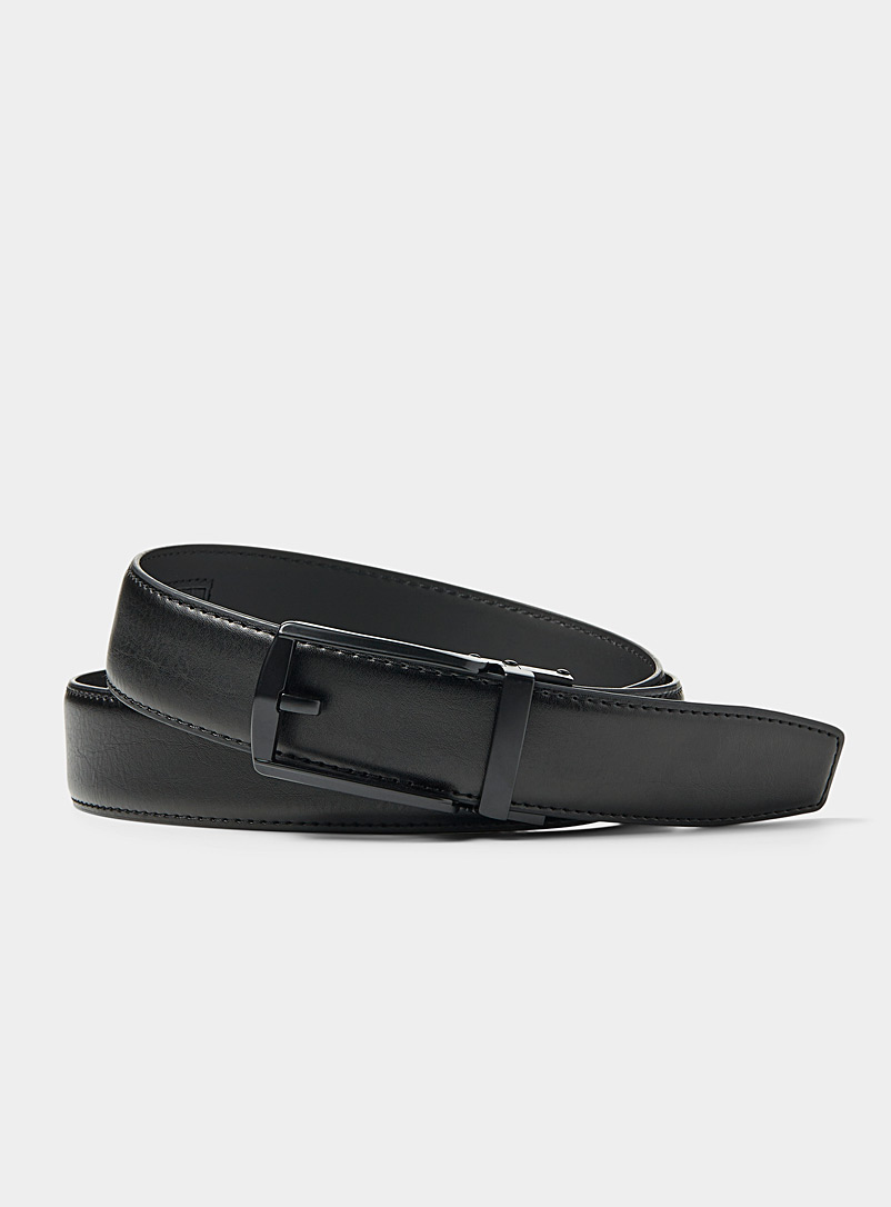Openwork buckle automatic belt - Dressy - Black
