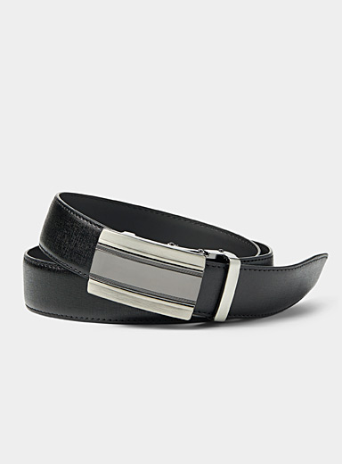 Automatic two-tone buckle belt