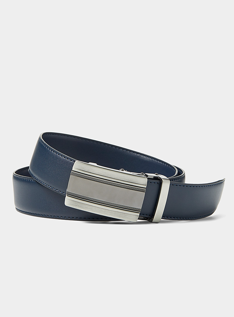 Le 31 Marine Blue Automatic two-tone buckle belt for men