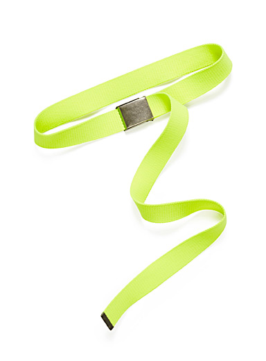 Long neon web belt