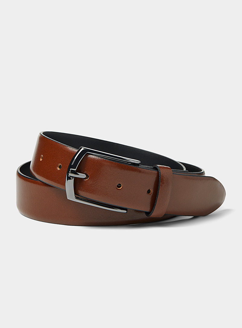 Le 31 Fawn Genuine leather belt for men