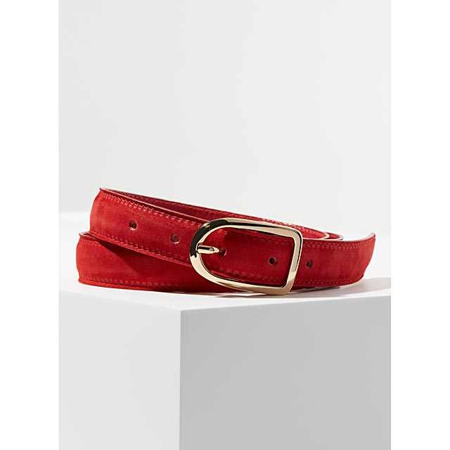 oval-buckle-suede-belt