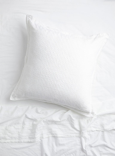 Soothing texture Euro pillow sham
