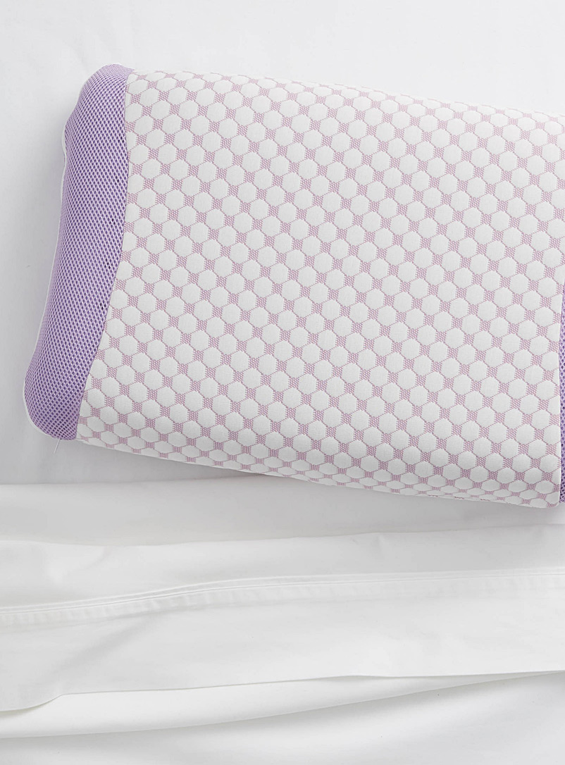 Lavender memory foam pillow - Pillows & Pillow covers - White
